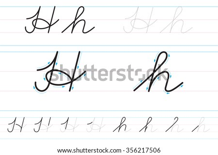 Learning write cursive lettering samples cursive stock photo cursive letters for learning to write hh expocarfo