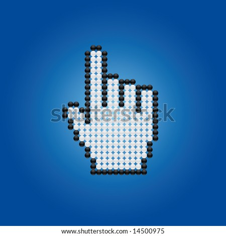 cursor hand - stock vector