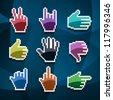 cursor hands - stock photo