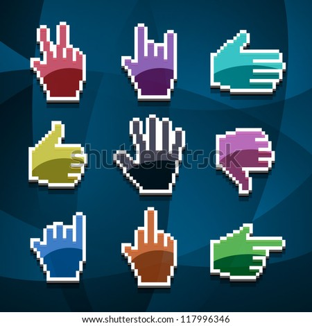 cursor hands - stock vector