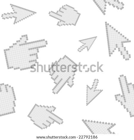 cursors seamless - stock vector