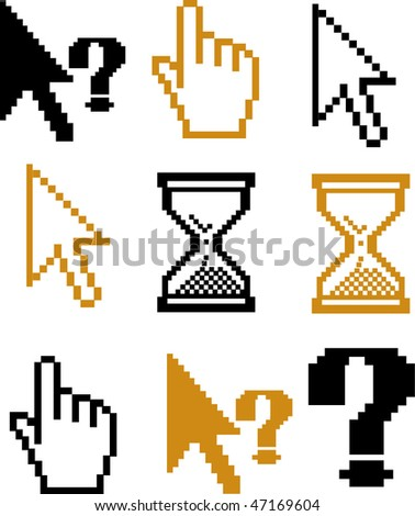 cursors. signs. vector