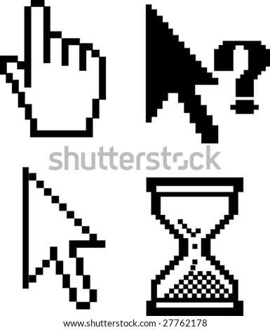 cursors v.5 - vector set - stock vector