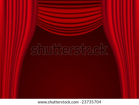 Curtain in vector - stock vector