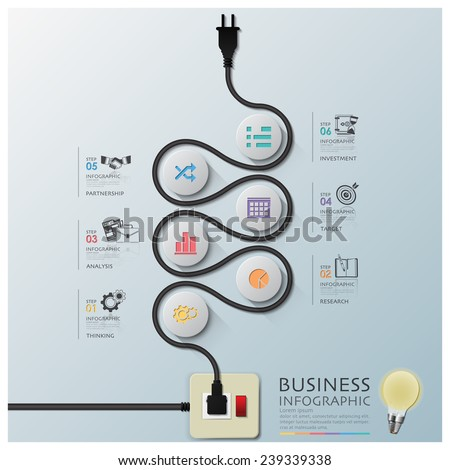 Curve Electric Wire Line Diagram Business Stock Vector HD (Royalty ...