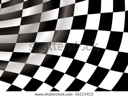curved checkered flag in a tunnel like background an ideal desktop