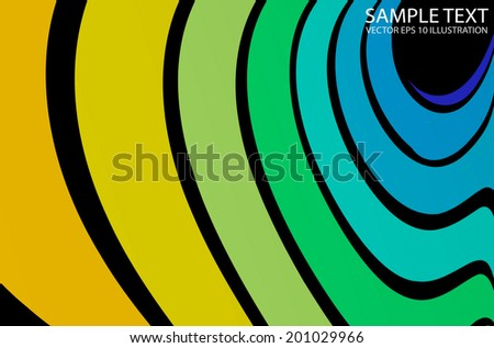 Curved pastel color vector background arcs spreading  - Colorful vector arcs spreading background illustration - stock vector