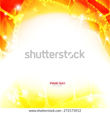Curved photographic film. - stock vector
