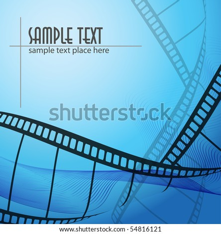 Curved photographic film - stock vector