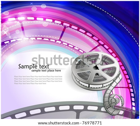Curved photographic film. Vector - stock vector