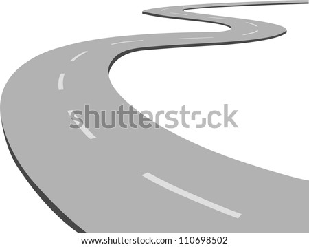 Curved road. - stock vector