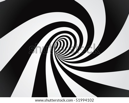 curved tunnel - stock vector