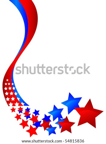 curving decorative banner that turns into stars - stock vector