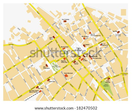 Cusco city map stock vector hd royalty free 182470502 shutterstock cusco city map publicscrutiny Image collections