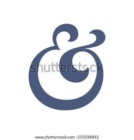 Custom ampersand symbol for wedding invitation. Vector illustration - stock vector