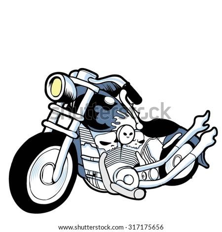 custom bike 3 - stock vector