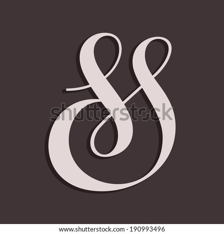 Custom decorative ampersand. Vector illustration - stock vector