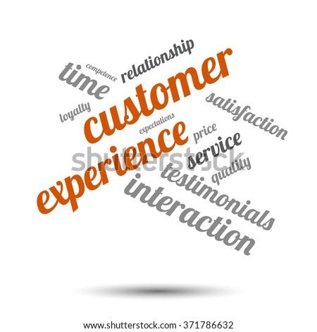 Customer experience word cloud - stock vector