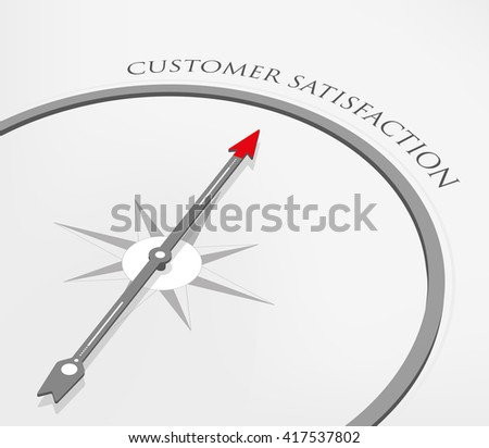 CUSTOMER SATISFACTION - stock vector