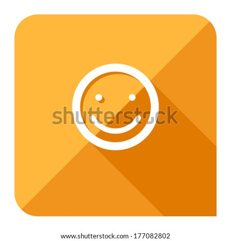 customer satisfaction or feedback icon. flat style. - stock vector