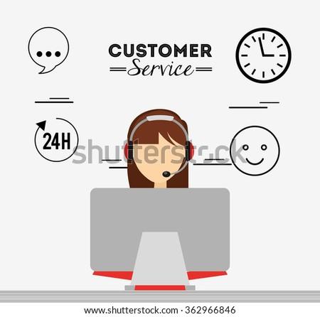 customer service design  - stock vector