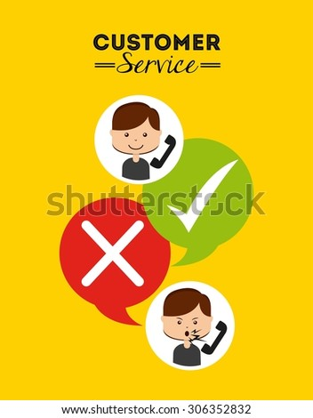customer service design, vector illustration eps10 graphic  - stock vector