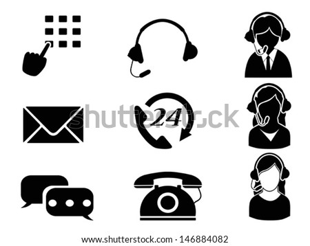 customer service icon set  - stock vector
