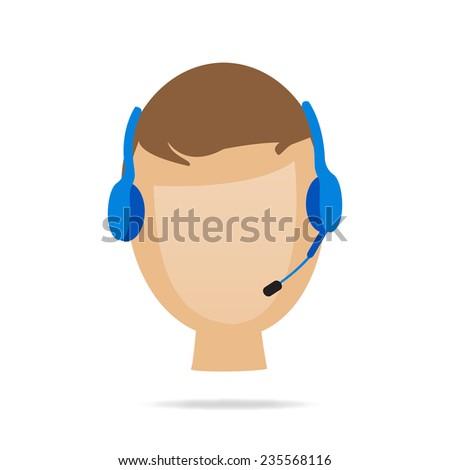 Customer Service Illustration - stock vector