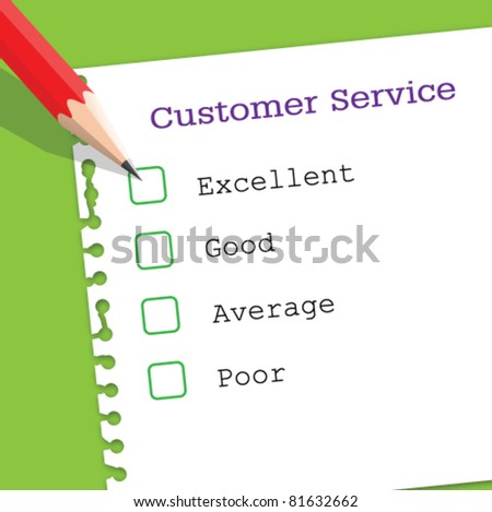 Customer service paper - stock vector