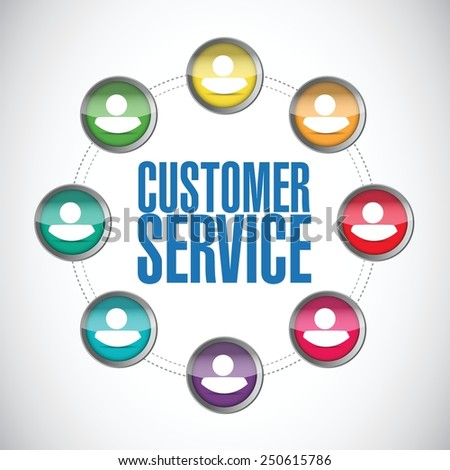 customer service people diagram illustration design over a white background - stock vector