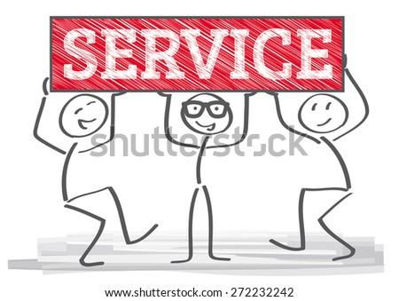 Customer service representative at the office  - stock vector