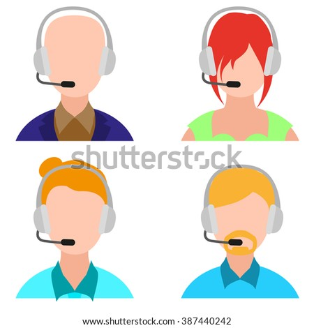 customer support - stock vector