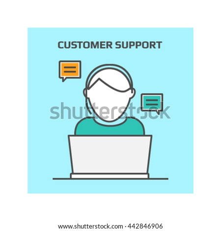 Customer support vector - stock vector