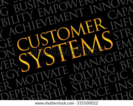 Customer Systems word cloud, business concept - stock vector