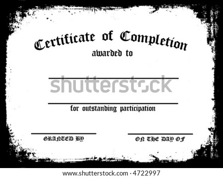 Customizable Certificate Or Completion - stock vector