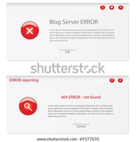 customizable error window - stock vector