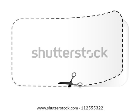Cut along the dotted line - stock vector