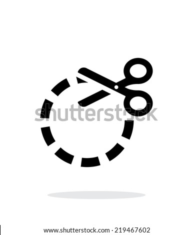 Cut circle icon on white background. Vector illustration. - stock vector