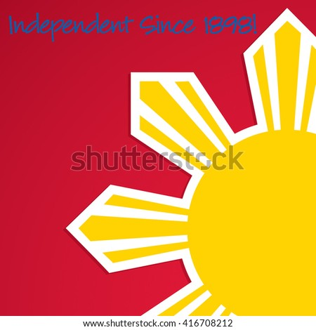 Cut out Philippine Independence Day card in vector format. - stock vector