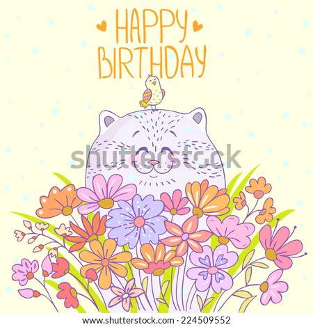 Happy Birthday Flowers Images RoyaltyFree Images Vectors – Beautiful Happy Birthday Cards