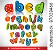 cute and colorful alphabet set design - stock vector
