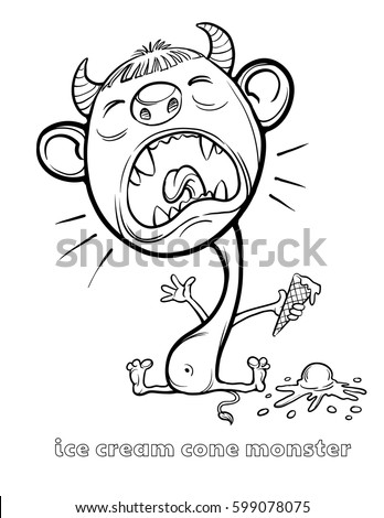 Cute And Funny Halloween Monster Coloring Page