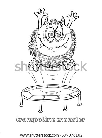 trampoline coloring page - trampoline stock images royalty free images vectors