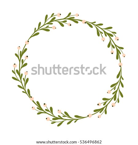 Cute And Gentle Handsketched Mistletoe Branches Seasonal Decoration Background Seasons Greetings Rustic Christmas