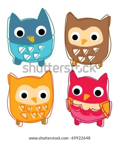 Cute animal icon vector illustration - stock vector