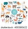 cute animal vector illustration ...
