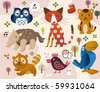 cute animal zoo - stock vector