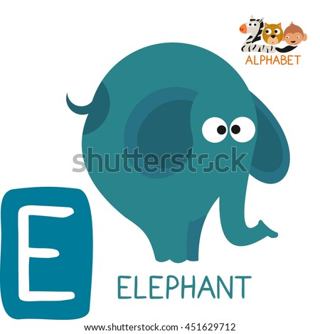 Letter E For Elephant Fun Teaching Aids Kids