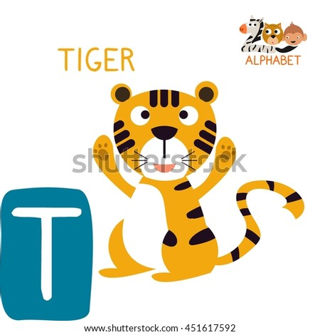 Letter T For Tiger Fun Teaching Aids Kids