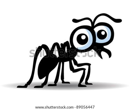 Cute Ant Logo Cute Ant Stock Vector